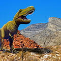 Rajasaurus In The Desert by Frank Wilson