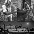 Rajasthan Collage Bw by Steve Harrington