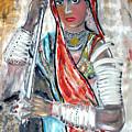 Rajasthani Woman by Narayanan Ramachandran
