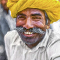 Rajput High School Teacher - Paint by Steve Harrington