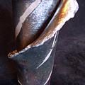 Raku Slab Wrapped Vase by Carolyn Coffey Wallace