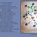 Rambling Rose Blues - Poetry In Art by Robin Monroe