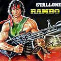 Rambo 2 Sylvester Stallone Paintinf by Kostas Soutsos