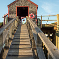Ramp And Shed, Rockport Harbor, Maine #80490 by John Bald