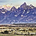 Ranch In Style Of A Watercolor by Mark Andrews