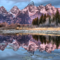 Grand Teton Snow Capped Reflections by Adam Jewell
