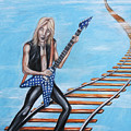 Randy Rhoads On The Tracks Of The Crazy Train by Michael Cook