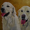 Ranger And Riley Waiting For A Command by Barbara Moak