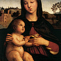 Raphael Madonna And Child C by PixBreak Art