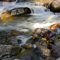 Rapids And Boulders by Sally Weigand