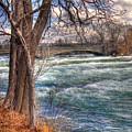 Rapids In Fall by Tammy Wetzel