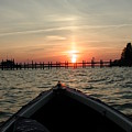 Rapphannock Kayak Sunset by Kent Clizbe