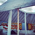 Rare Los Angeles Historical Architecture Site With Graffiti  by Lorie Stevens