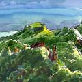 Rarotonga, Te Kou Mountain View by Judith Kunzle