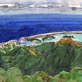 Rarotonga, View From Te Manga by Judith Kunzle