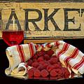 Raspberries At The Market by Pamela Walton