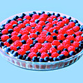 Raspberry And Blueberry Tart by Dominic Piperata