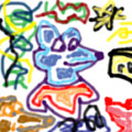 Rat Doodle by Blind Ape Art