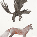 Raven And Old Fox by Sophy White