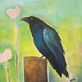 Raven In The Garden by Vesna Antic
