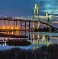 Ravenel Bridge Reflection by Donnie Whitaker