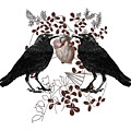 Ravens And Anatomical Heart by Sandra McGinley