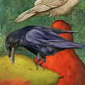 Ravens On Pears by Leah Saulnier The Painting Maniac