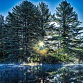 Rays Of Light On The Androscoggin River by Jan Mulherin
