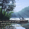 Rays Of Light - Place To Ponder by Anthony J Padgett