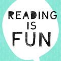 Reading Is Fun- Art By Linda Woods by Linda Woods