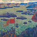Ready For The Campaign, The Varangian Sea by Nicholas Roerich