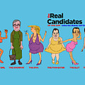 Real Candidates Of The Gop -clear Background Version 2 by Sean Corcoran