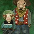 Real Cowboys 3 by Leah Saulnier The Painting Maniac
