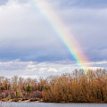 Real Rainbow Over The River by Alain De Maximy