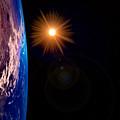 Realistic Illustration Of Earth And Sun by Sasa Kadrijevic