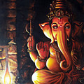 Portrait Of Lord Ganapathy Ganesha by Arun Sivaprasad