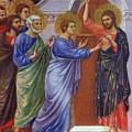Reassuring Thomas Fragment 1311 by Duccio