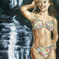 Rebecca Gayheart by Bryan Bustard