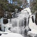 Receding Winter Ice At Ganoga Falls by Gene Walls