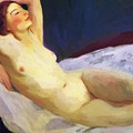 Reclining Nude Barbara Brown 1916 by Henri Robert