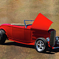Red 1932 Ford Hot Rod  by Nick Gray