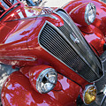 Red 1938 Plymouth by Robert VanDerWal