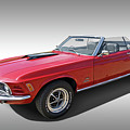 Red 1970 Mach 1 Mustang 351 Cleveland by Gill Billington