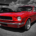 Red '65 Mustang 001 by Lance Vaughn
