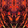 Red Abstract Art - Heart Matters - Sharon Cummings by Sharon Cummings