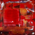 Red Abstract by Gina De Gorna