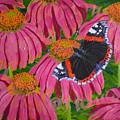 Red Admiral Butterfly by Teresa Marie Staal Cowley