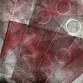 Red And Black Abstract Monoprint by Sheryl Karas
