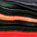 Red And Black Art - Fire Lines - Sharon Cummings by Sharon Cummings