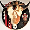 Red And Black Buffalo Design by Bill Whidden